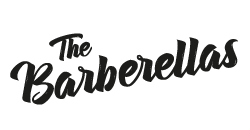 the barberellas hairstyling barbershop makeup logo klein